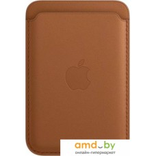 Кредитница Apple Leather Wallet MagSafe MHLT3 (saddle brown)